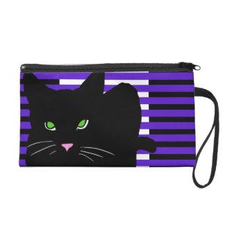 Black Cat Street Style Pop Art Cats CricketDiane Wristlet Clutch