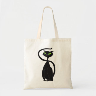 Black Cat Tote Canvas Bag