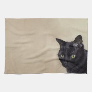 Black Cat Towels
