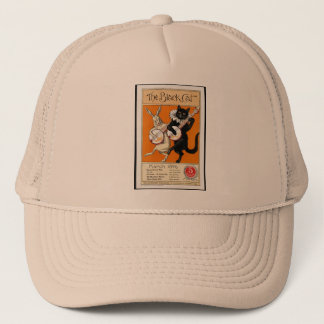 Black cat trucker hat