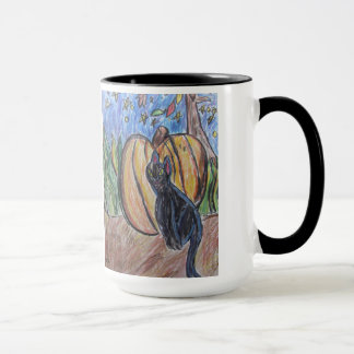 black cat two mug