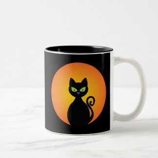 Black Cat Two-Tone Mug