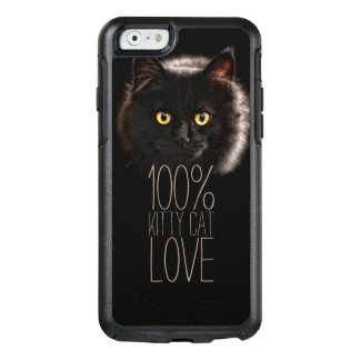 Black Cat Typography Cat Lover OtterBox iPhone 6/6s Case