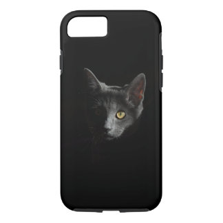 Black cat unleashed iphone case