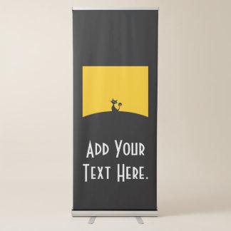 Black Cat Vertical Retractable Banner