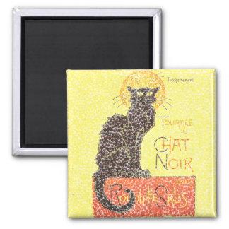 Black Cat Vintage Square Magnet