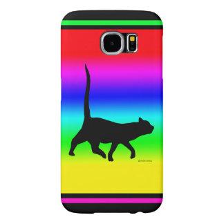 """Black Cat Walkin'"" Samsung Galaxy S6 Case"