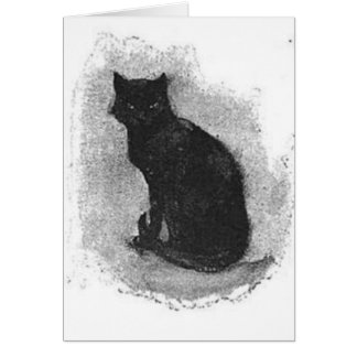 Black Cat Waving Tail Card