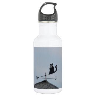 Black Cat  Weather Vane 532 Ml Water Bottle