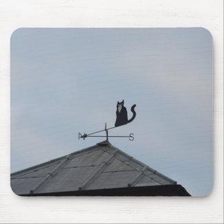 Black Cat  Weather Vane Mouse Pad