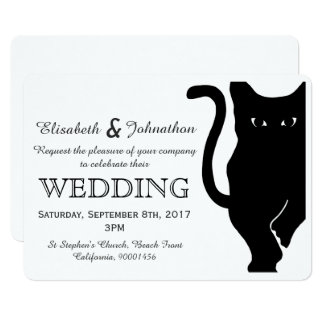 Black Cat Wedding Invitation