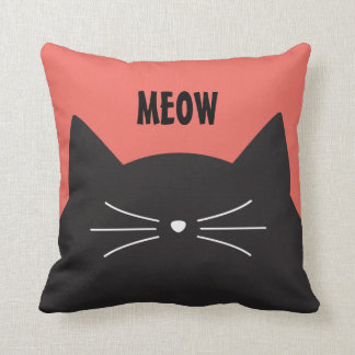 Black Cat, Whiskers and Tail Cushion