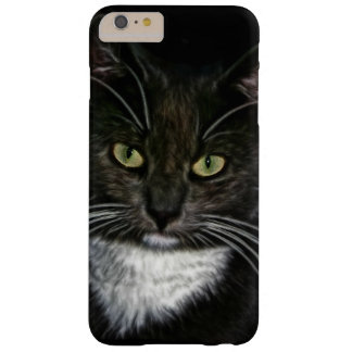 Black Cat White Bib Green Eyes Barely There iPhone 6 Plus Case