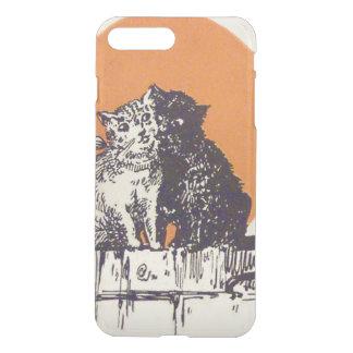 Black Cat White Cat Full Moon Romance iPhone 7 Plus Case