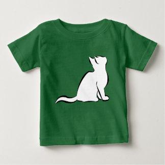 Black cat, white fill baby T-Shirt