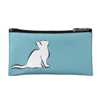 Black cat, white fill / Pink cat, white fill Makeup Bag