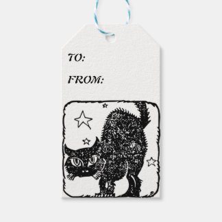 BLACK CAT, WHITE GIFT TAGS