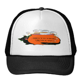 Black Cat Witches Brew Mesh Hats