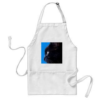 Black Cat with blue sky ~ Apron