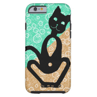BLACK CAT with bubbles by Slipperywindow Tough iPhone 6 Case