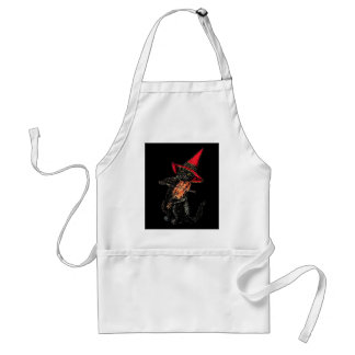 Black Cat with Fiddle Standard Apron