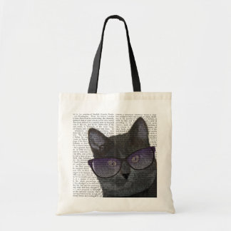 Black Cat with Sunglasses 2 Budget Tote Bag