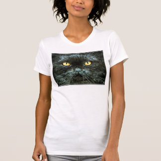 Black Cat with Yellow Eyes Tshirt