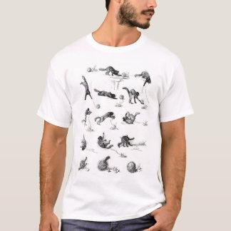 Black cat & Woolen yarn ball, Alexandre Steinlen T-Shirt
