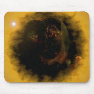 black cat yellow sunburst mouse pad
