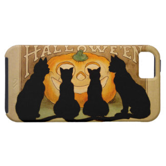 Black Cats and a Jack O'Lantern iPhone 5 Cover