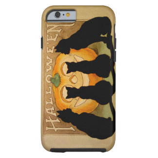 Black Cats and a Jack O'Lantern Tough iPhone 6 Case