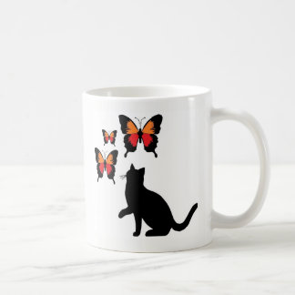 Black Cats And Butterflies Mug