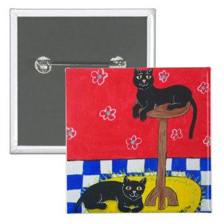 Black Cats Button
