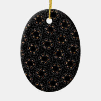 Black cats ceramic ornament