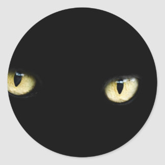 Black Cat's Eyes Classic Round Sticker