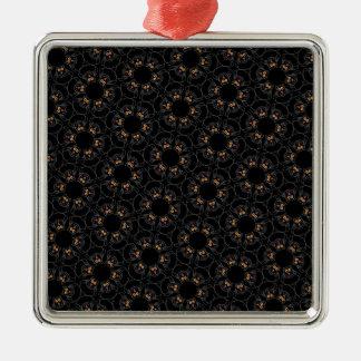 Black cats metal ornament