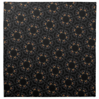 Black cats napkin