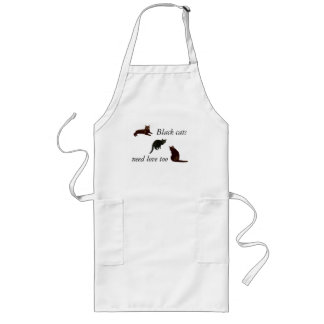 Black Cats Need Love Too Apron