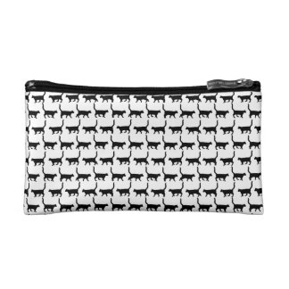 Black Cats Print Cosmetic Bag