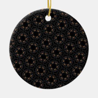 Black cats round ceramic decoration
