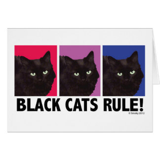 Black Cats RULE! Blank Card