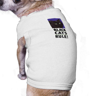 Black Cats RULE! Tee for Cats & Dogs Sleeveless Dog Shirt