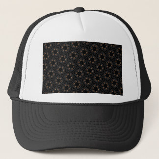 Black cats trucker hat