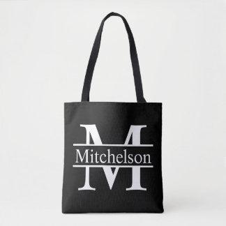 Black CBLF Monogrammed Tote Bag