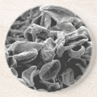 black cells or bacteria coaster
