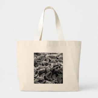 black cells or bacteria large tote bag