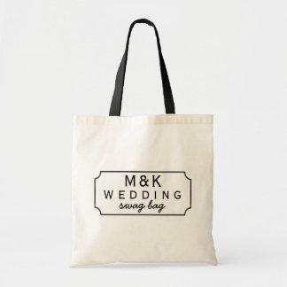 Black Chalkboard Framed Wedding Guest Swag Bag