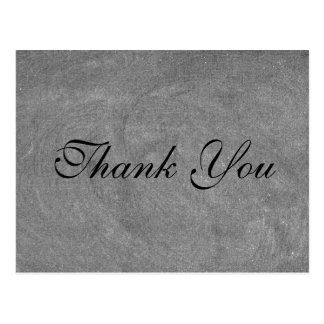 Black Chalkboard Script font Thank You Card