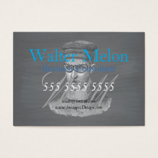 Black Chalkboard Steampunk Goggles Man Business Card