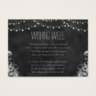 Black Chalkboard String Lights Wishing Well Cards